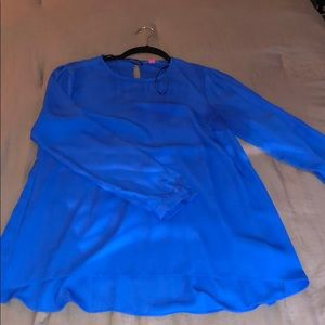 Vine Camuto Blue blouse with sleeve cutouts